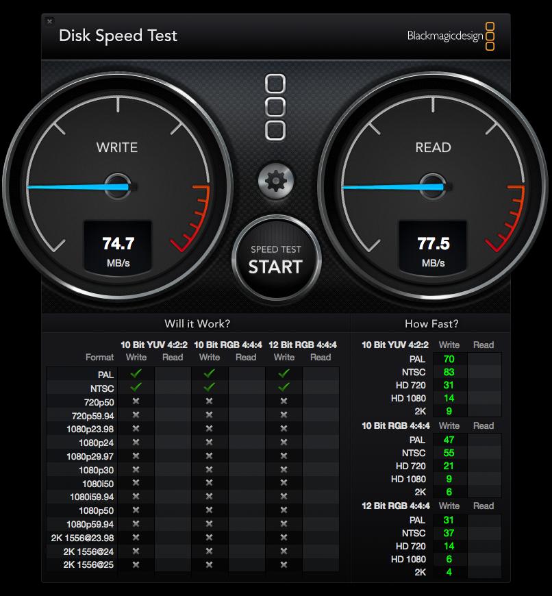 DiskSpeedTest QNAP online