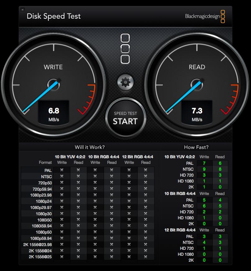 DiskSpeedTest wifi nas buffalo