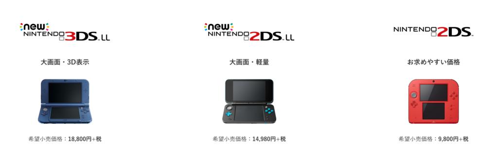 3DSシリーズラインナップ