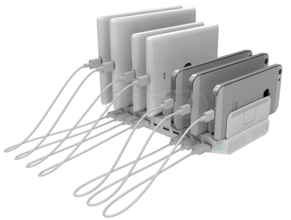 Unitek USB Charging Station Charging Station 96W 10 Port USB Smart Charging Station